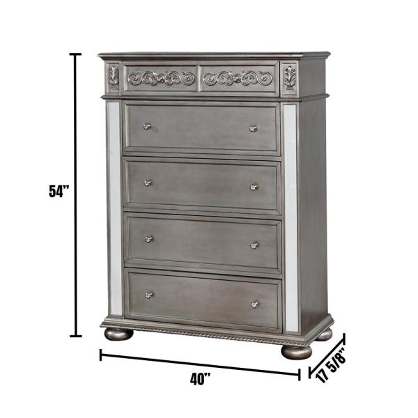 Azha Silver Traditional Style Chest