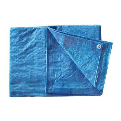 8 ft. x 10 ft. Blue Poly Tarp