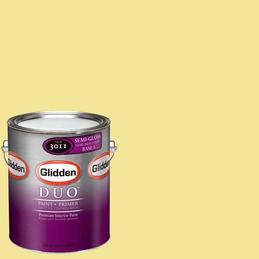 Glidden DUO Martha Stewart Living 1-gal. #MSL063-01S Mimosa Semi-Gloss Interior Paint with Primer-DISCONTINUED