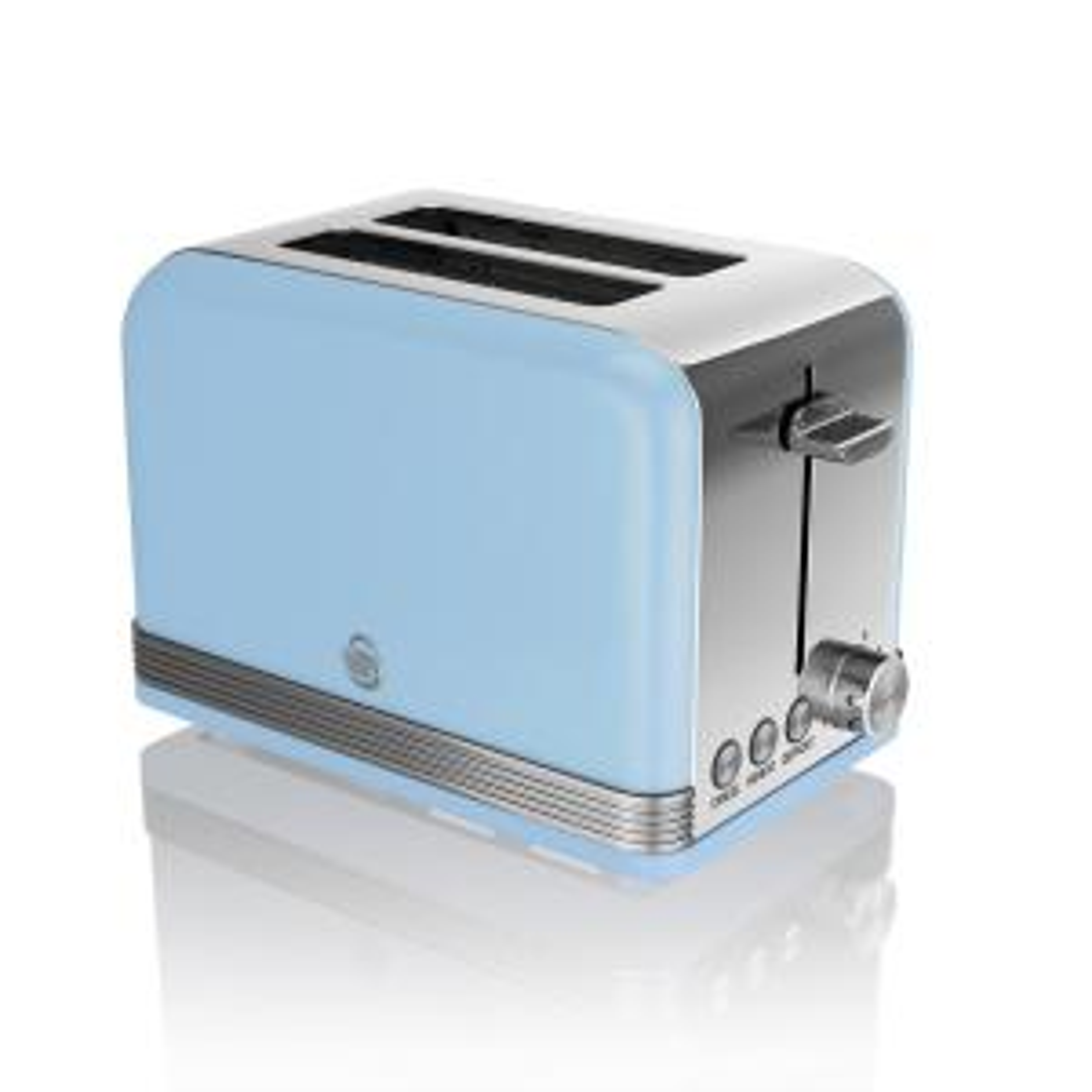 Retro 2-Slice Blue Toaster