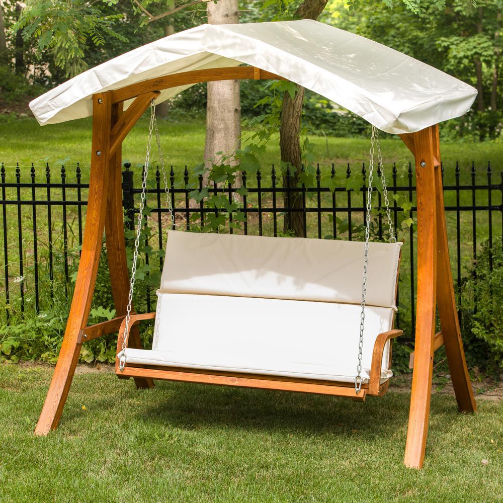 Leisure Season Wooden Patio Swing, Patio Swing Home Depot