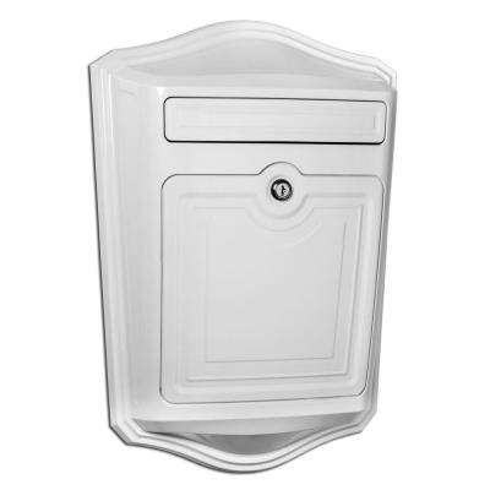 Maison White Wall-Mount Locking Mailbox