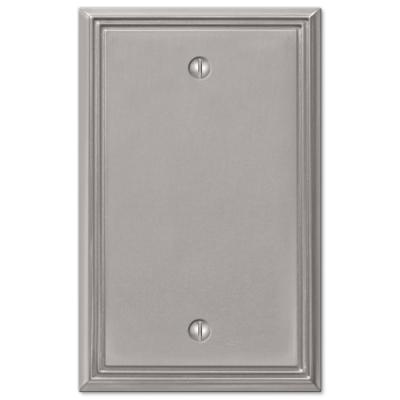 Rhodes 1 Gang Blank Metal Wall Plate - Brushed Nickel
