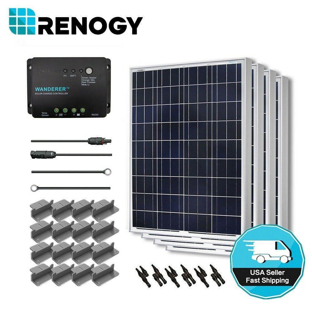 400-Watt 12-Volt Polycrystalline Solar Starter Kit for Off-Grid Solar System