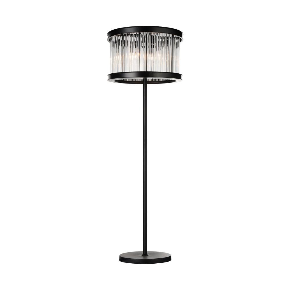 CWI Lighting Mira 72 in. Black Floor Lamp