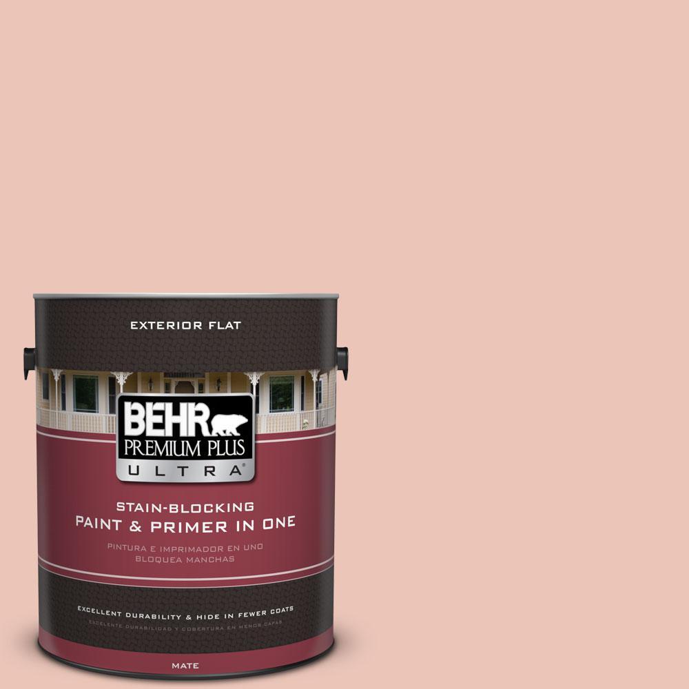 BEHR Premium Plus Ultra Home Decorators Collection 1-gal. #HDC-CT-14 Coral Coast Flat Exterior Paint