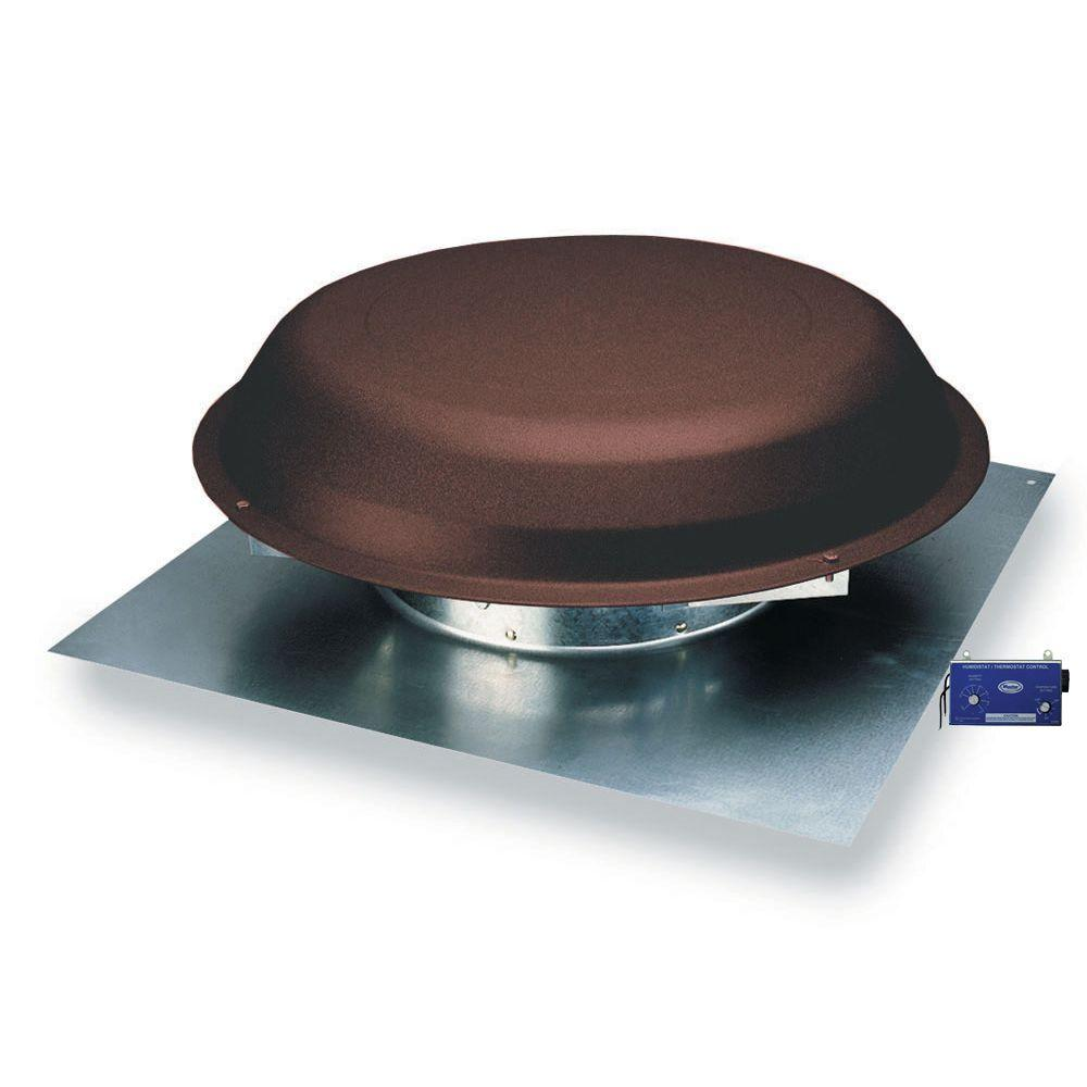 Master Flow 1250 Cfm Brown Power Roof Mount Vent With