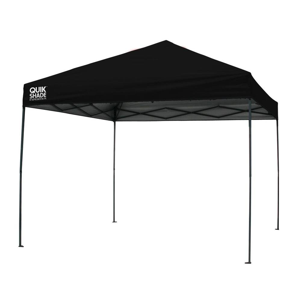 Expedition 100 Team Colors 10 ft. x 10 ft. Black Instant