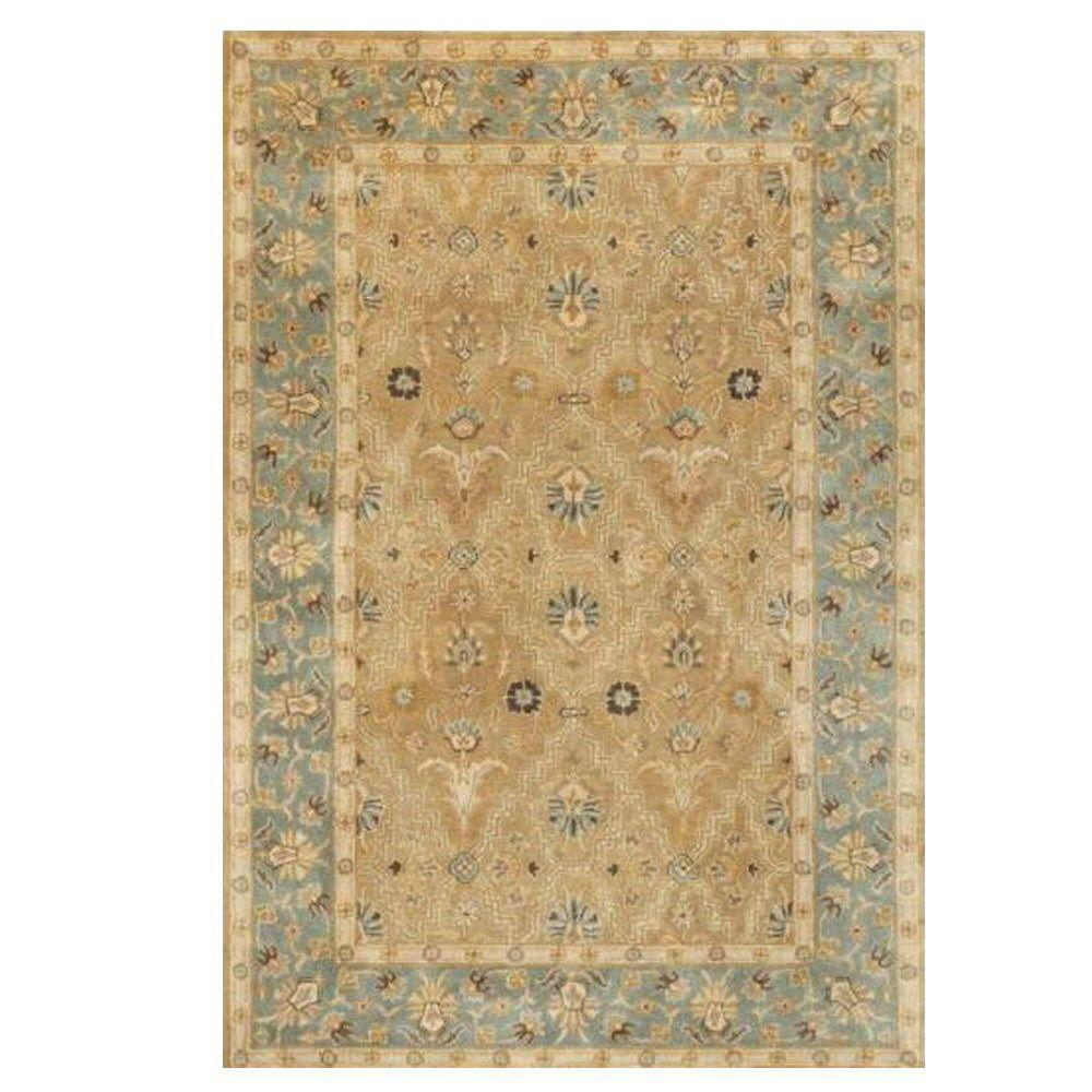 Home decorators collection menton gold blue 6 ft x 9 ft for Home decorators rugs blue
