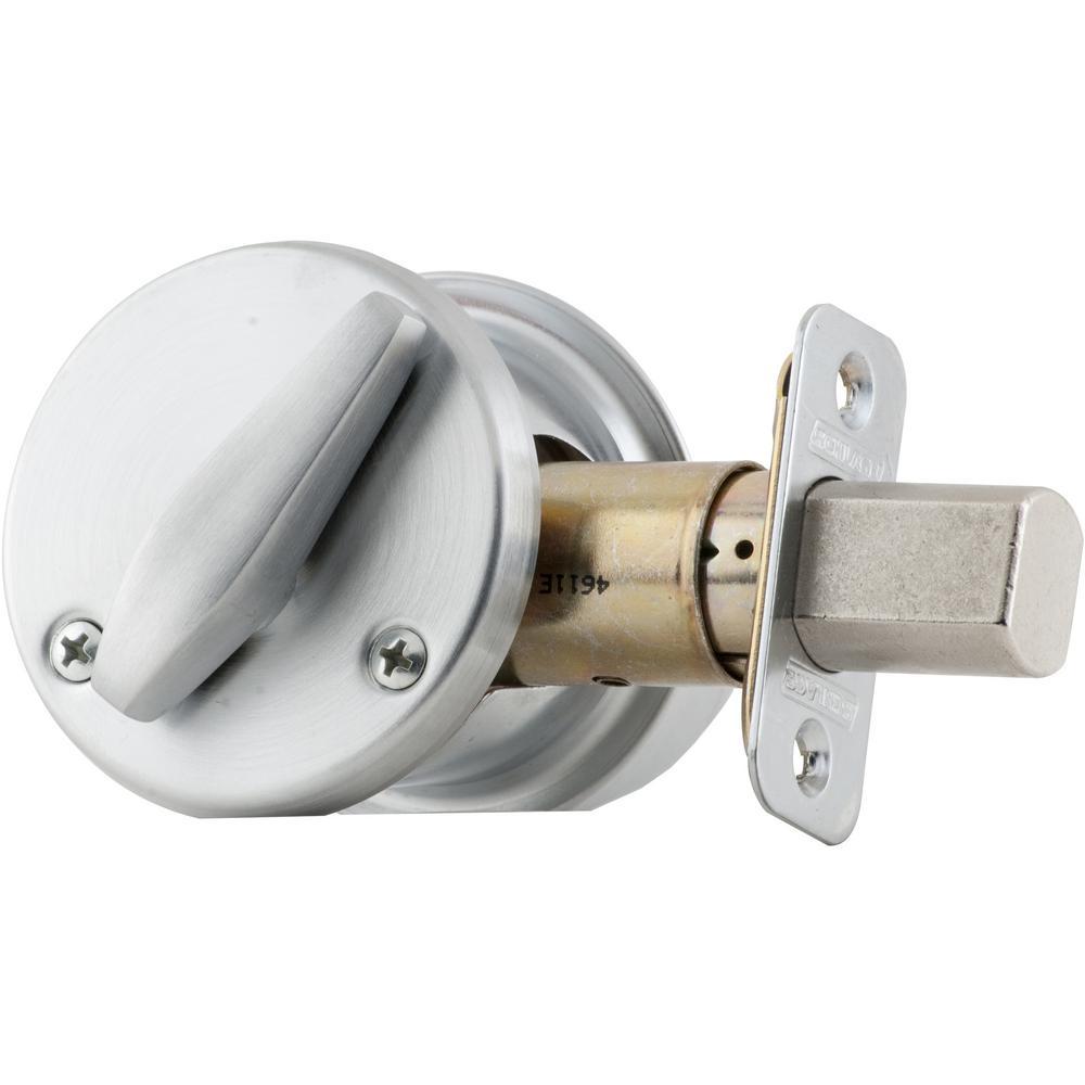 BC500 Door Single Cylinder Deadbolt Adjustbale Backset in Satin Chrome