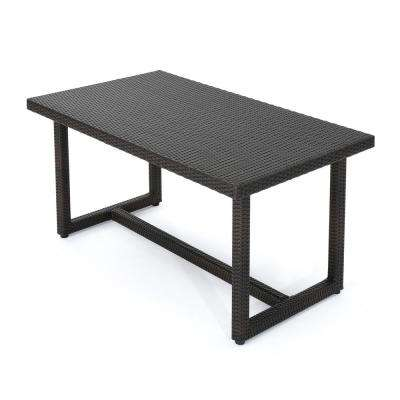 Nolan Multibrown Rectangular Wicker Outdoor Dining Table