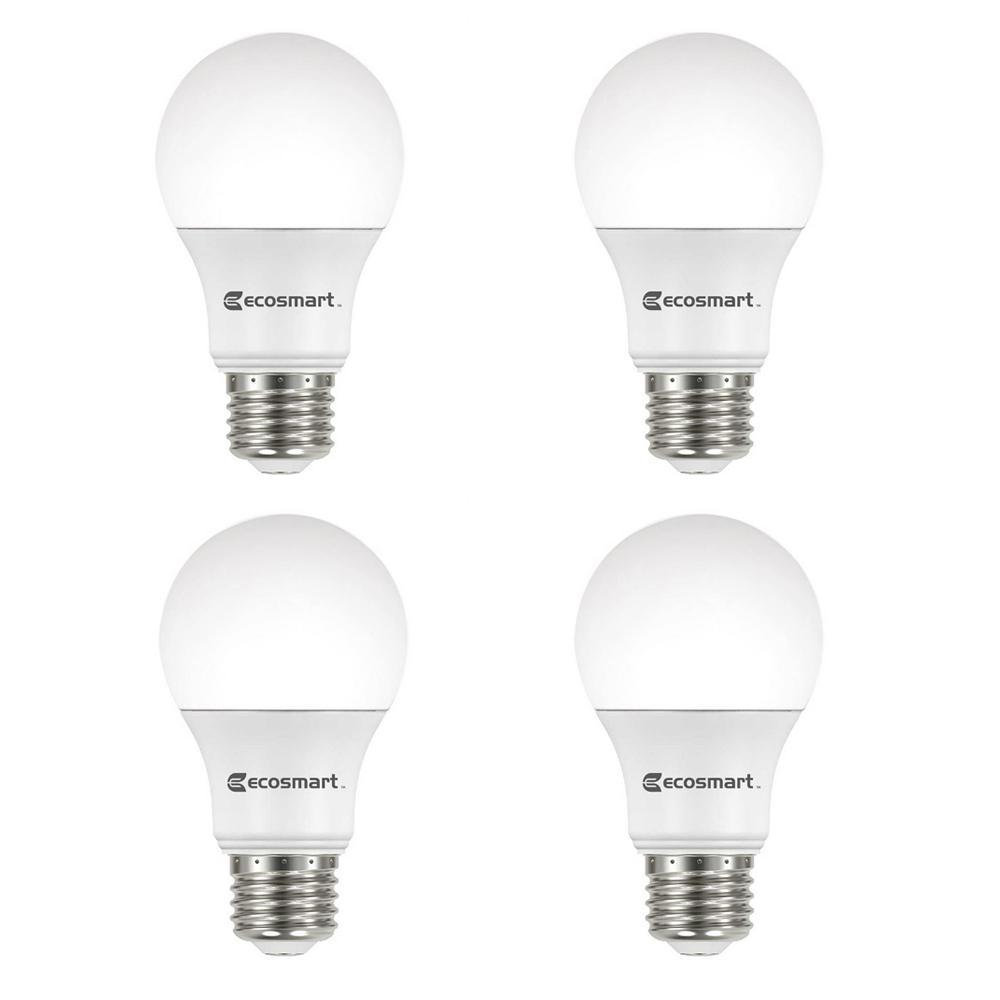 100-Watt Equivalent A19 Non-Dimmable LED Light Bulb Soft White (4-Pack)
