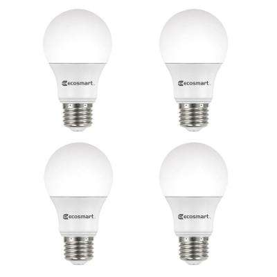 100-Watt Equivalent A19 Non-Dimmable LED Light Bulb Soft White (4-Pack)