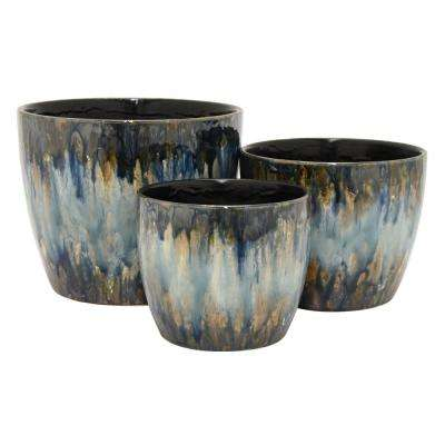 6.75 in. Ceramic Planter (Set of 3)