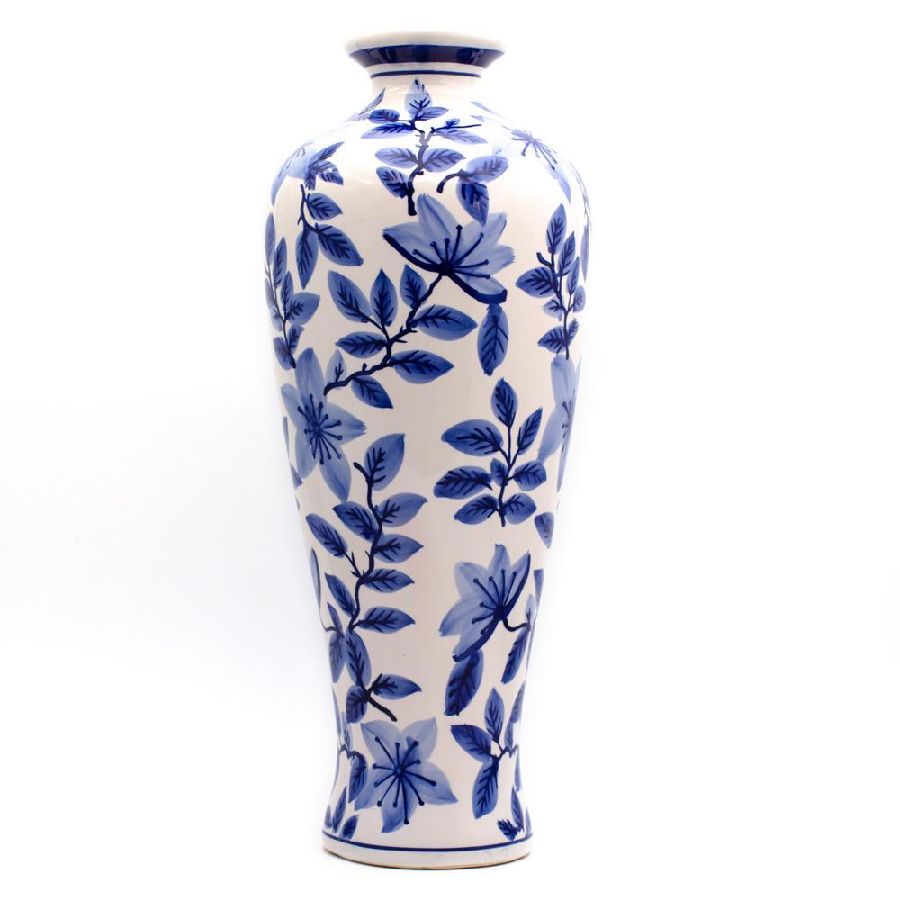 Blue Garden Tall Azalea Shoulder Vase