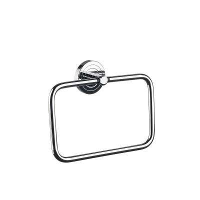 Polo Wall Mounted Towel Ring in Polished Chrome