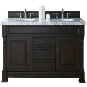 James Martin Signature Vanities Brookfield 60 inch W Double Vanity in Burnished Mahogany with Marble Vanity Top in... by James Martin Signature Vanities