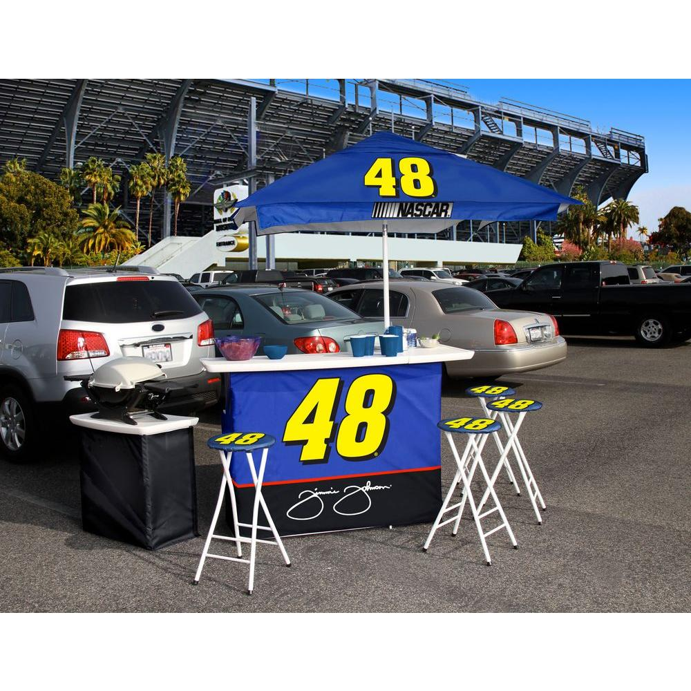 Best of Times Jimmie Johnson All-Weather Patio Bar Set with 6 ft. Umbrella-DISCONTINUED
