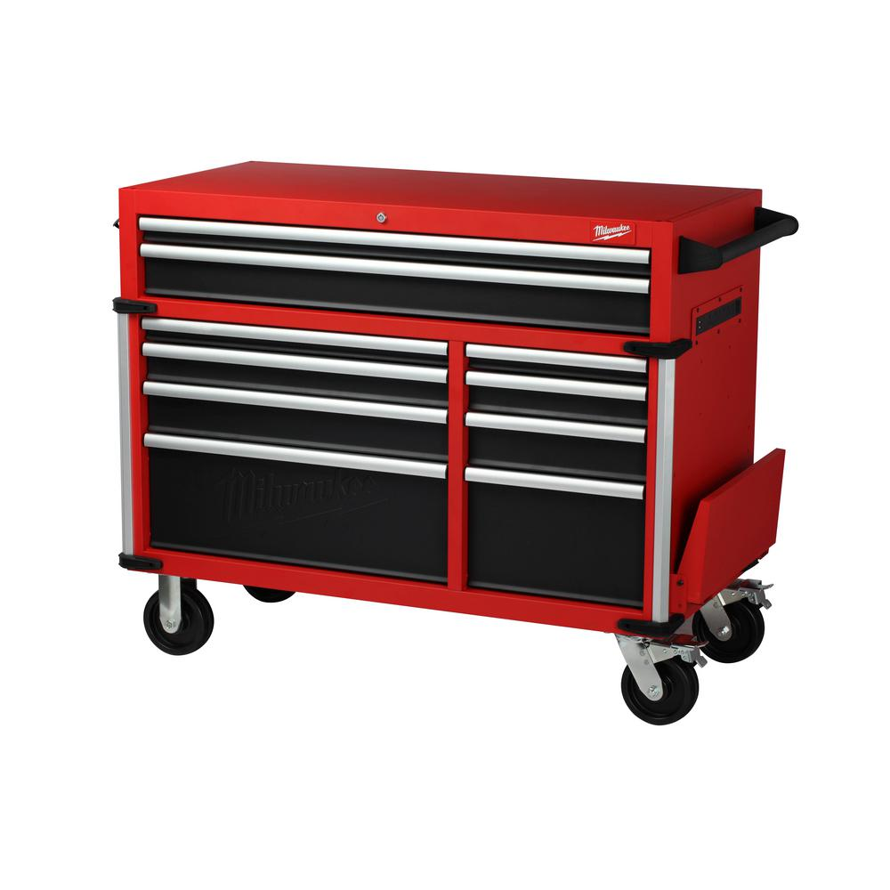 Milwaukee High Capacity 46 in. 10-Drawer Roller Cabinet Tool Chest