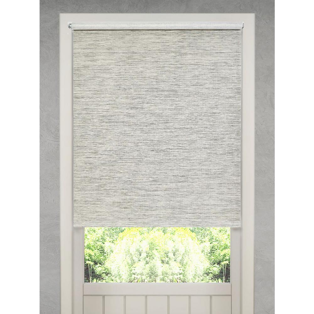 Demori Cut To Size Gray Natural Fiber Cordless Light Filtering Roller Shades 32 5 In W X 72 In L 14288 The Home Depot