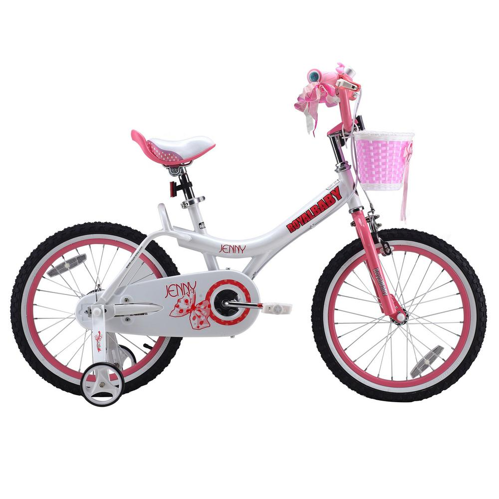 Jenny Princess Pink Girl's Bike with Training Wheels and ...