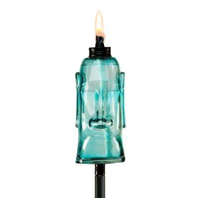 65 in. King Oahu Glass Torch Blue