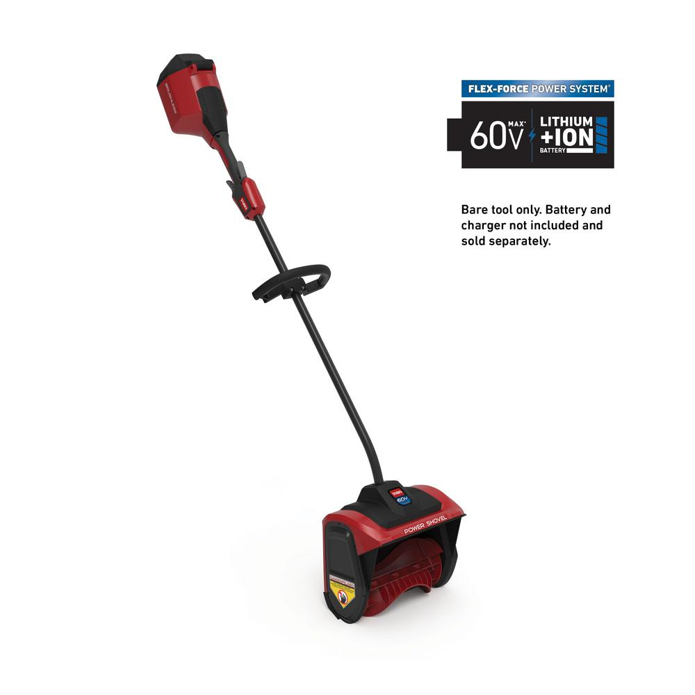 Toro 12 in. 60-Volt Battery Cordless Electric Snow Shovel (Bare Tool)