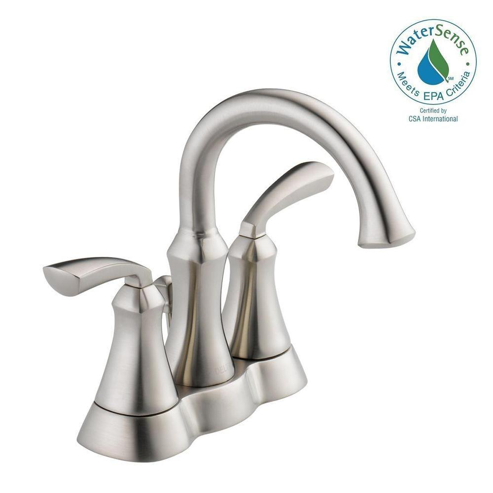 Mandara 4 In. Centerset 2 Handle Bathroom Faucet In Brushed Nickel