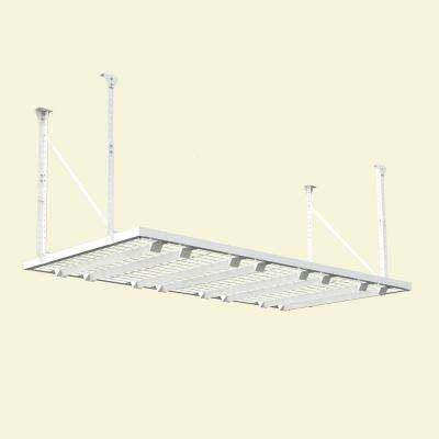 96 in. W x 48 in. D Adjustable Height Garage Ceiling Mount Storage Unit