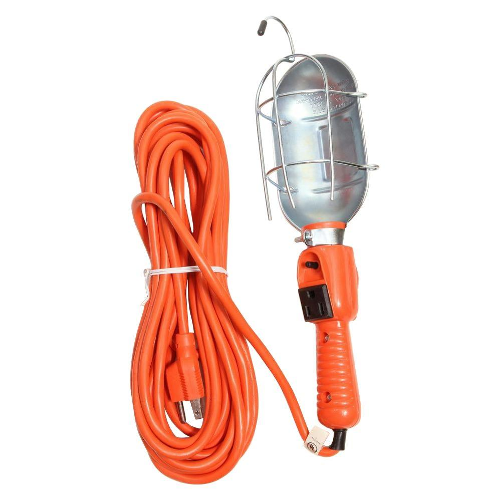 Motor Trend 16 Gauge 3-Wire 50 ft. Red Portable Work Light-DISCONTINUED