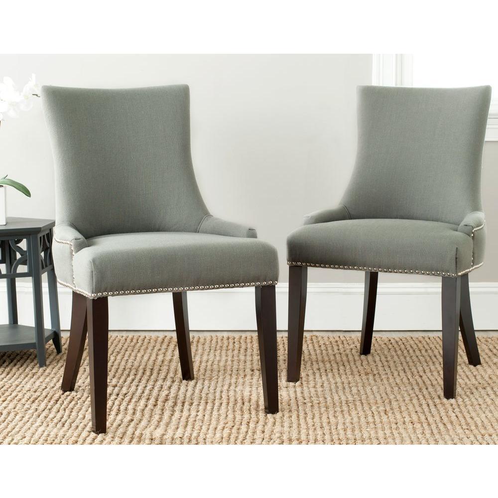 Lester Granite Linen Dining Chair (Set of 2)