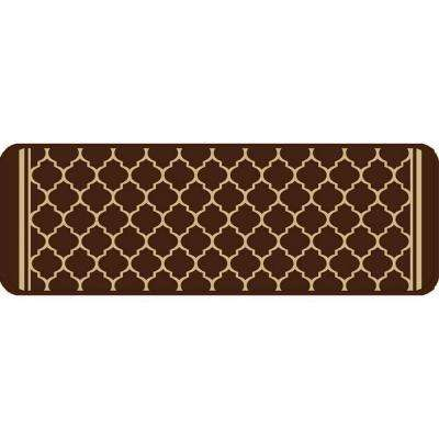 Gardengate Chocolate 9 in. x 26 in. Stair Tread Cover