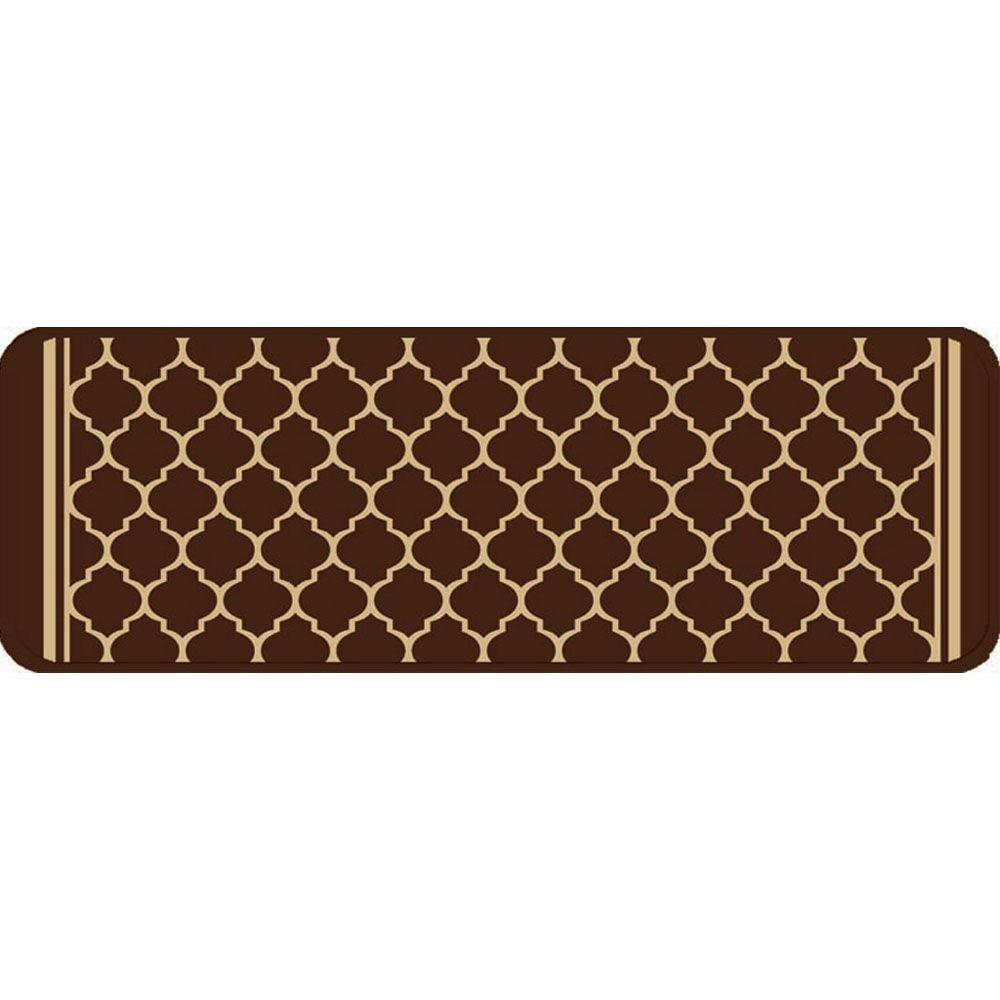 Merveilleux Multy Home Gardengate Chocolate 9 In. X 26 In. Stair Tread Cover (Set