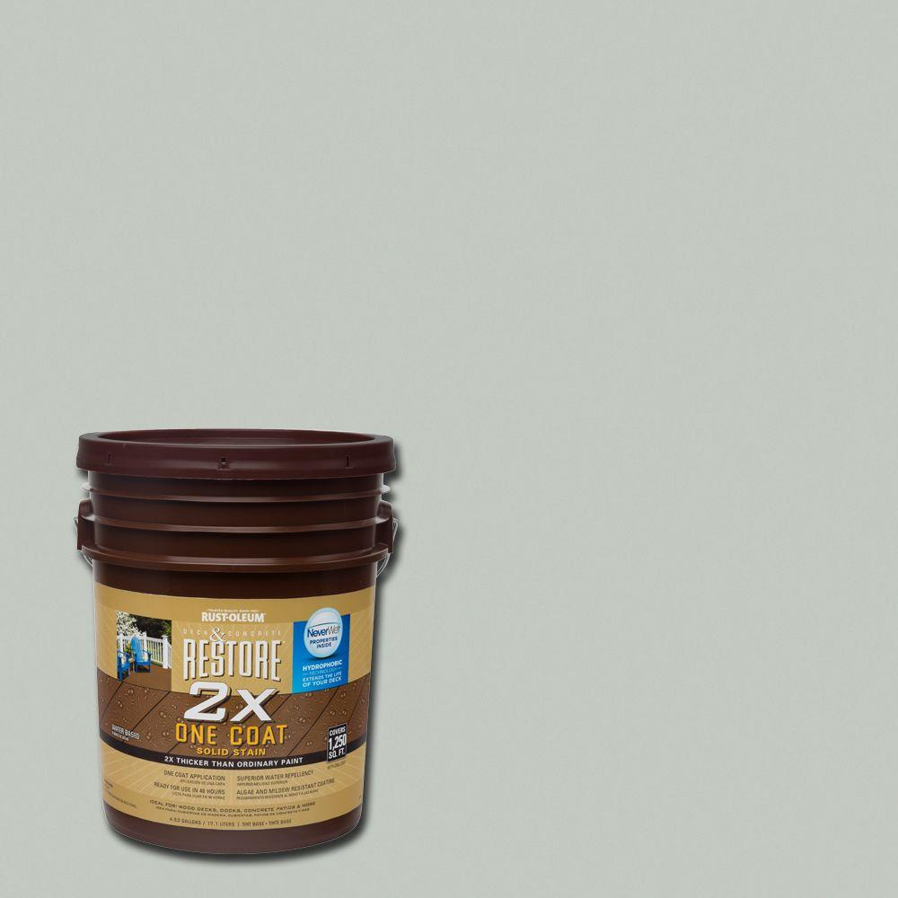 Rust-Oleum Restore 5 gal. 2X Graywash Solid Deck Stain with NeverWet