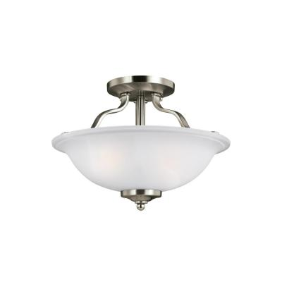 Emmons 2-Light Brushed Nickel Semi-Flush Mount