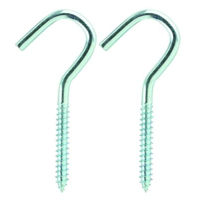 3.9 in. Zinc-Plated Utility Screw Hook (2-Pack)