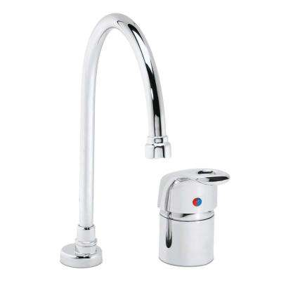 Commander 1-Handle Gooseneck Laboratory Faucet in Polished Chrome