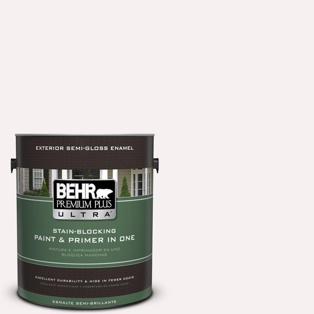 BEHR Premium Plus Ultra 1-gal. #W-B-610 Soft Breeze Semi-Gloss Enamel Exterior Paint