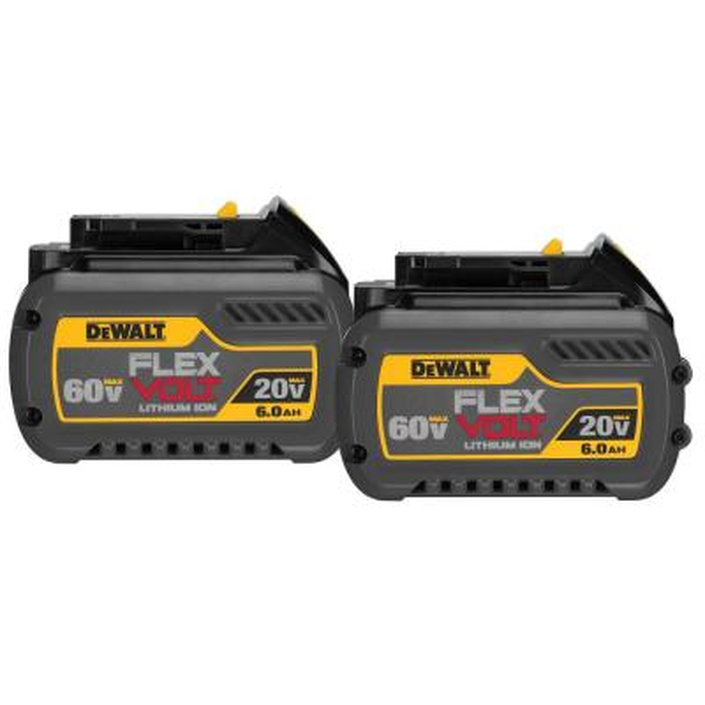 FLEXVOLT 20-Volt/60-Volt MAX Lithium-Ion 6.0Ah Battery Pack (2-Pack)