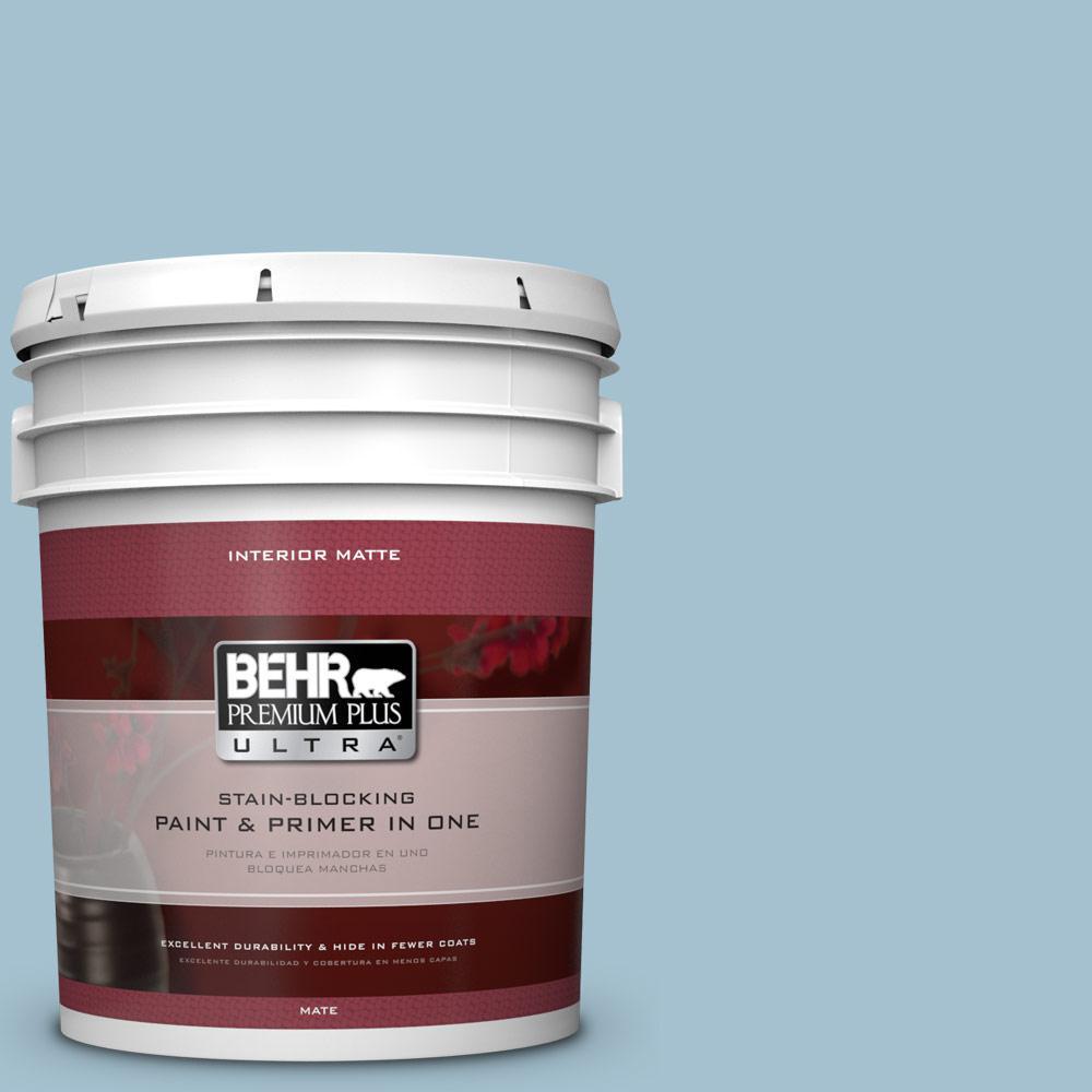 BEHR Premium Plus Ultra 5 gal. #550E-3 Viking Flat/Matte Interior Paint