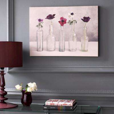 "28 in. x 20 in. ""Floral Row"" by Graham and Brown Printed Canvas Wall Art"