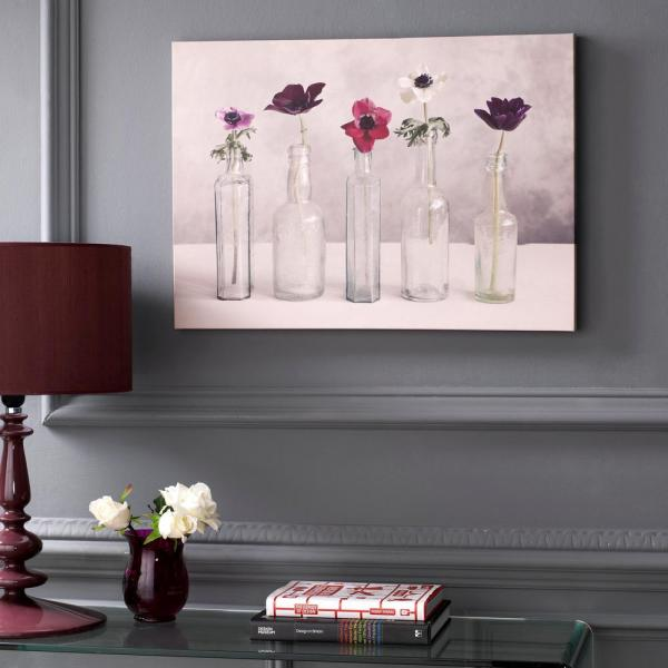 28 in. x 20 in. ''Floral Row'' by Graham and Brown Printed Canvas Wall Art