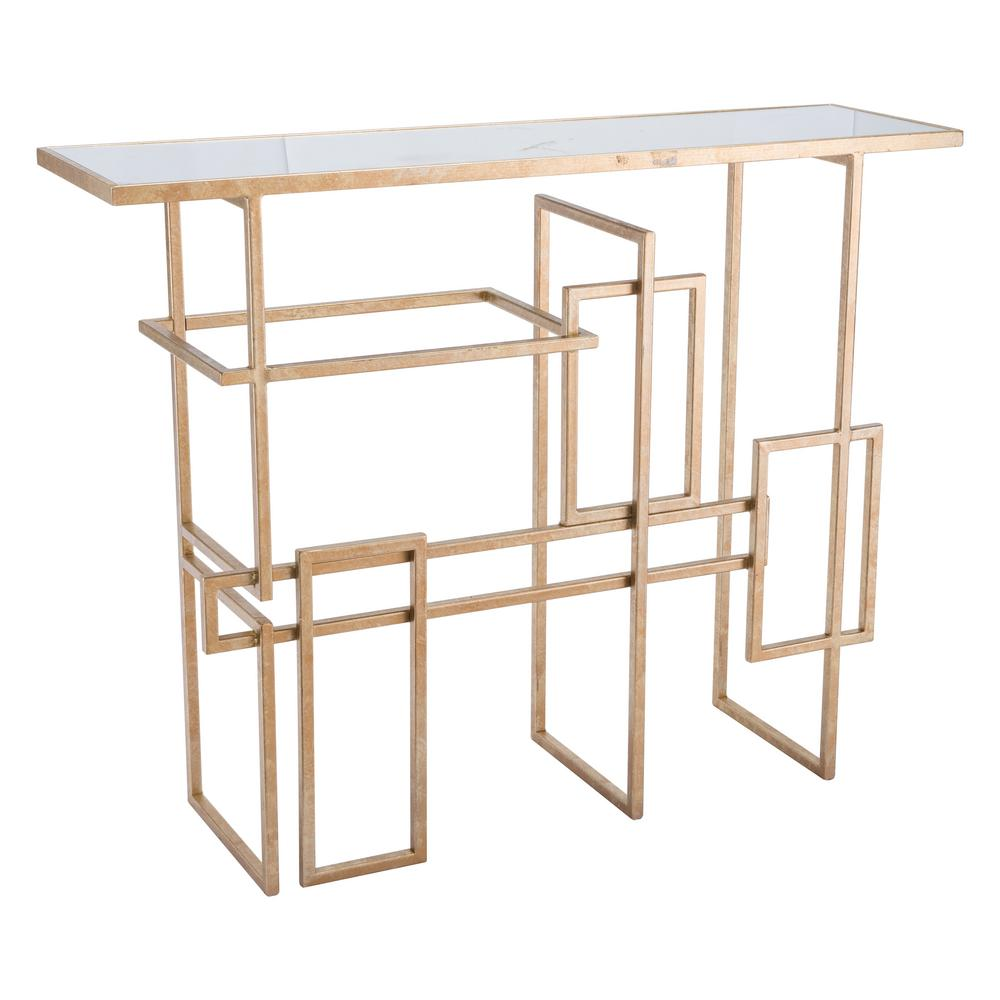 ZUO Multiples Gold Console Table