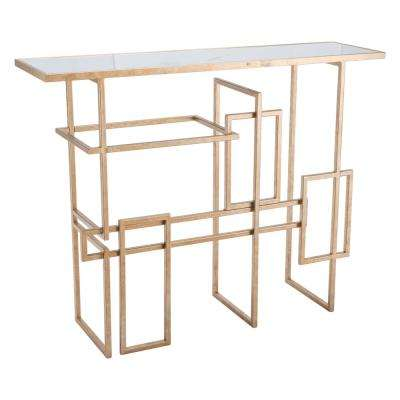 Multiples Gold Console Table