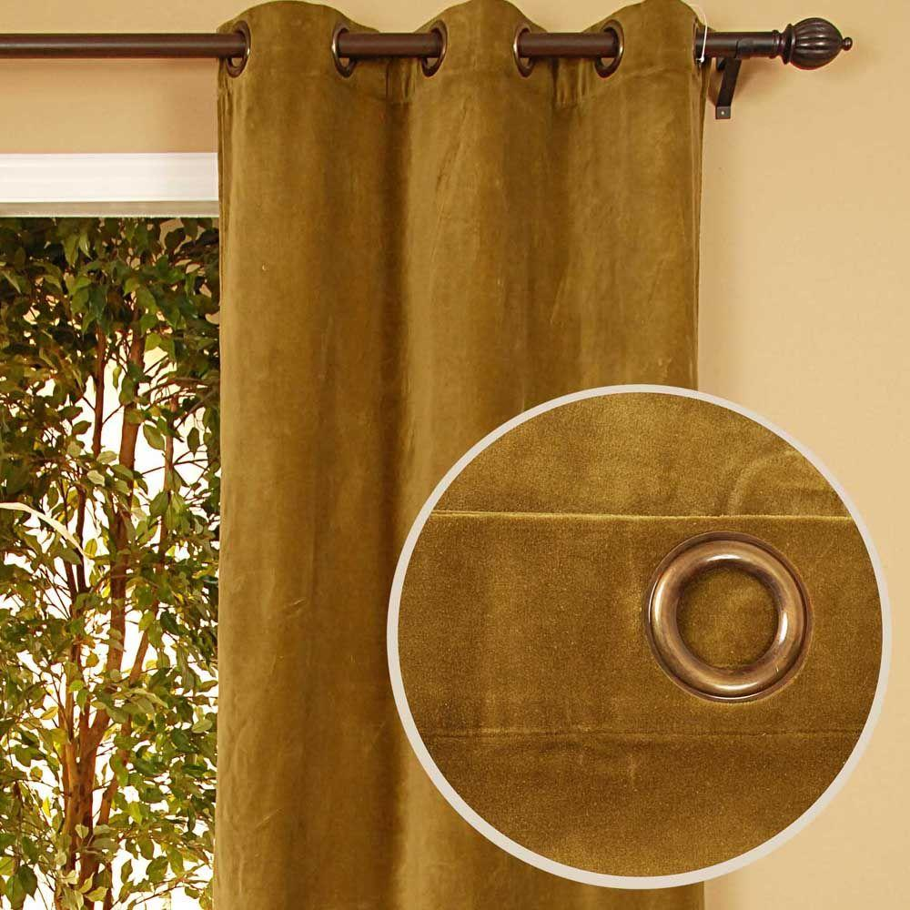 Home Decorators Collection Sheer Kavita Olive Grommet Curtain