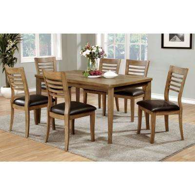 Dwignt II Natural Tone Transitional Style Dining Table