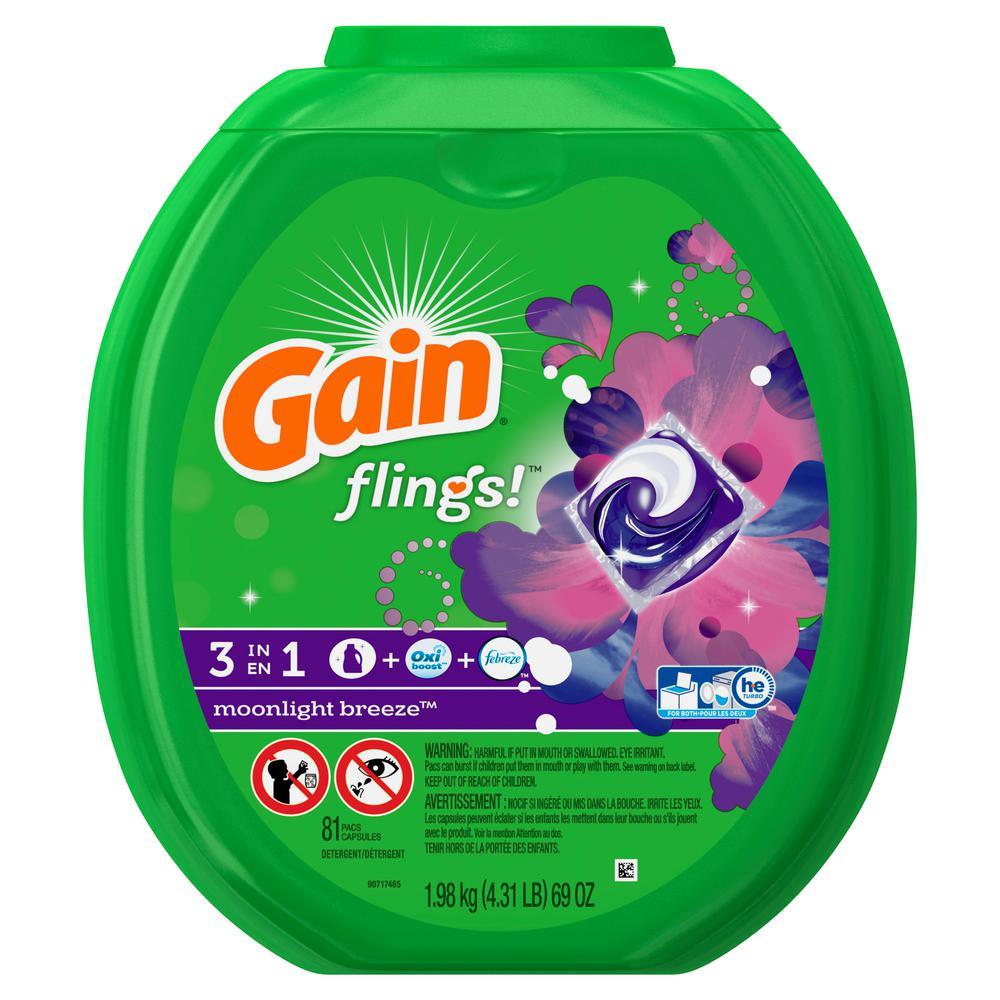 Gain Flings Moonlight Breeze Plus Aromaboost Laundry