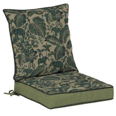 Casablanca Elephant 2-Piece Outdoor Lounge Chair Cushion