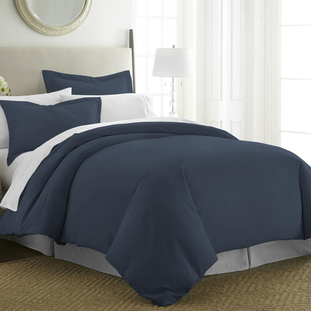 Performance Navy Twin 3-Piece Duvet Cover Set