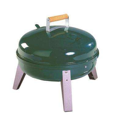 The Wherever Portable Dual Fuel Electric and Charcoal Grill in Green